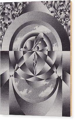 Theatre Wood Print by Herb Jordan