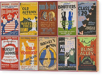 Theatre Posters Of The 1930s And 1940s Wood Print by Don Struke