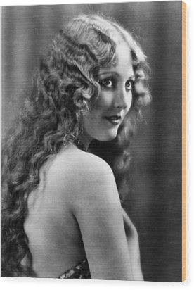 Thelma Todd, Ca. Late 1920s Wood Print by Everett