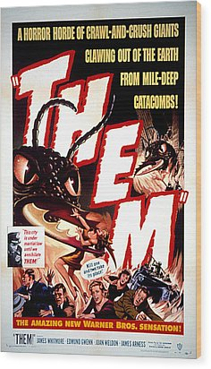 Them 1954, Poster Art Wood Print by Everett