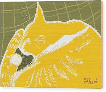 Wood Print featuring the painting Theo by Anita Dale Livaditis