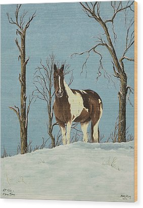 There Is A Season Wood Print by Mary Ann King
