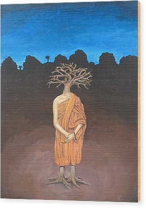 Thich Quang Duc Wood Print by David  Nixon