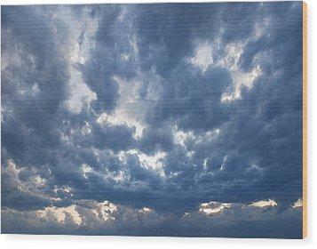 Things In The Sky Wood Print by Marco Kienle