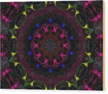 Think Pink Wood Print by Alec Drake