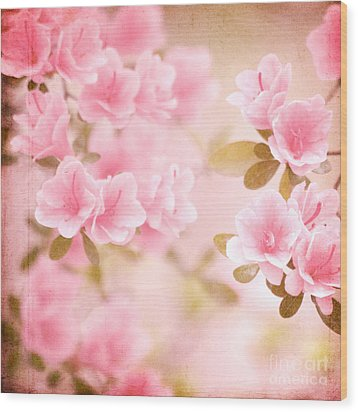 Think Spring Wood Print by Kim Fearheiley
