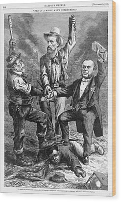 This Is A White Mans Government. An Wood Print by Everett