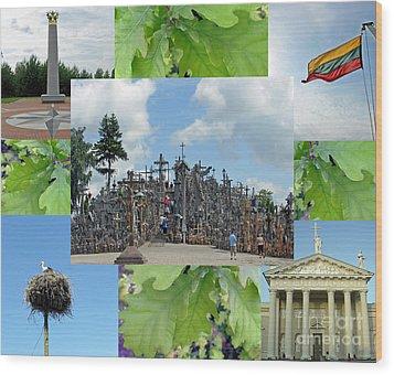Wood Print featuring the photograph This Is Lietuva- Lithuania by Ausra Huntington nee Paulauskaite