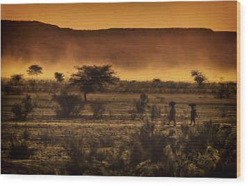This Is Namibia No. 12 - Walking The Desert Wood Print by Paul W Sharpe Aka Wizard of Wonders