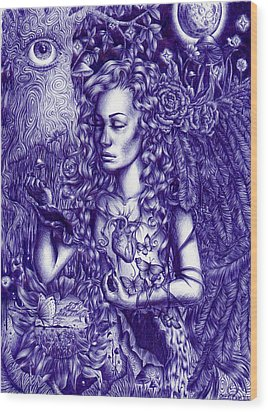 This Is Your Brain On Drugs Wood Print by Callie Fink