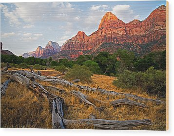 This Is Zion Wood Print by Peter Tellone