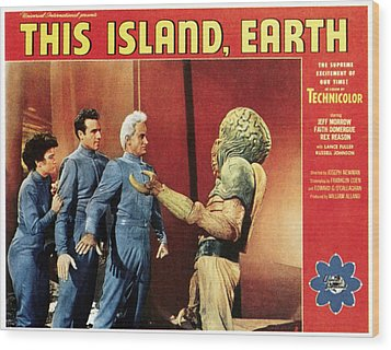This Island, Earth, From Left Faith Wood Print by Everett