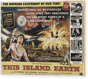 This Island, Earth, From Left Rex Wood Print by Everett