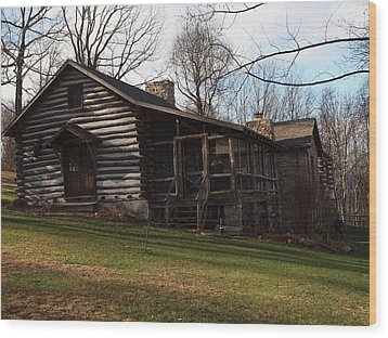 This Old Cabin Wood Print by Robert Margetts