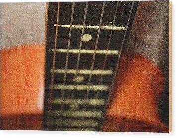 This Old Guitar Wood Print by Martina Fagan