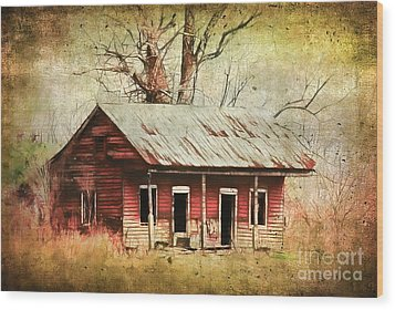 This Old House Wood Print by Judi Bagwell