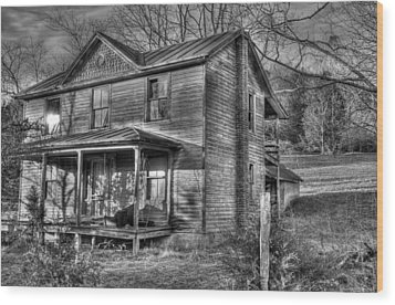 This Old House Wood Print by Todd Hostetter