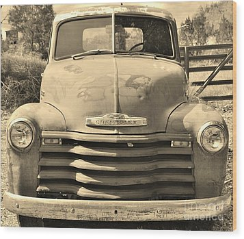 This Old Truck Wood Print by William Wyckoff