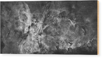 This View Of The Carina Nebula Wood Print by ESA and nASA