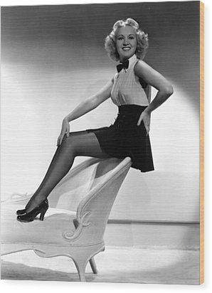 This Way Please, Betty Grable, 1937 Wood Print by Everett