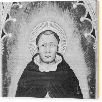 Thomas Aquinas, Italian Philosopher Wood Print by Science Source