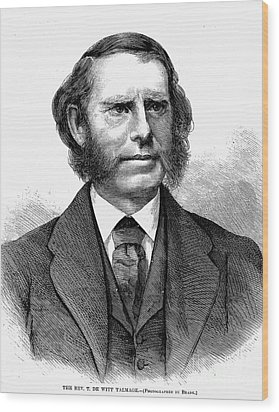 Thomas De Witt Talmadge Wood Print by Granger