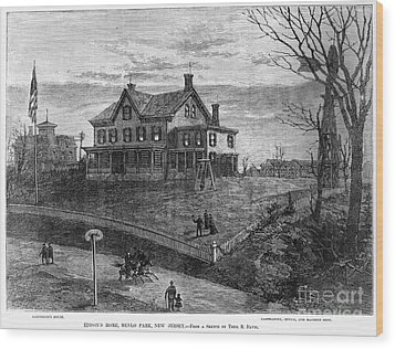 Thomas Edison Residence Wood Print by Granger
