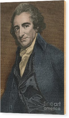 Thomas Paine, American Patriot Wood Print by Photo Researchers