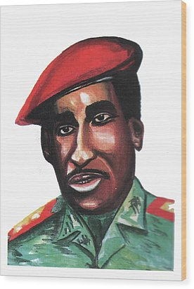 Thomas Sankara Wood Print