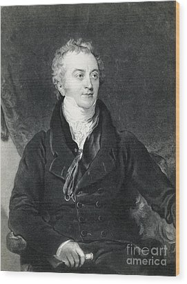 Thomas Young, English Polymath Wood Print by Photo Researchers