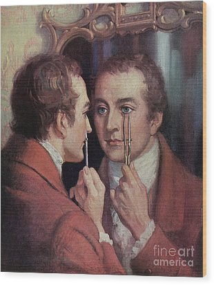 Thomas Young, English Polymath Wood Print by Science Source