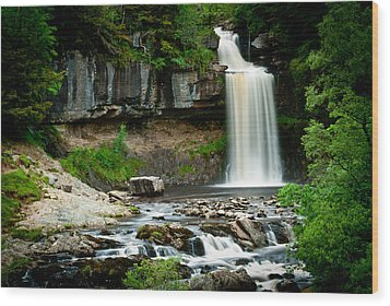 Thornton Force Waterfall 2 Wood Print by Andy Comber