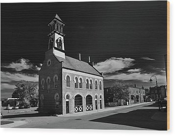 Thorold's Old Fire Hall Wood Print by Guy Whiteley