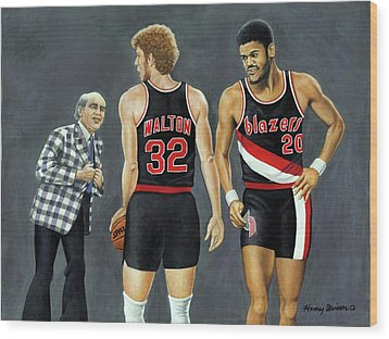 Three Champs Wood Print by Henry Frison