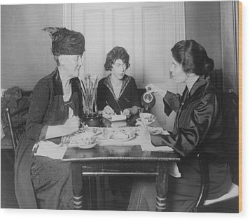 Three Feminists Activists Wood Print by Everett