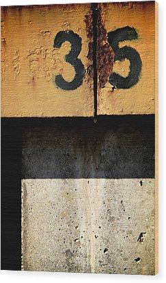 Three Five Split Wood Print by Odd Jeppesen