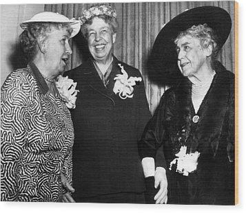 Three Former First Ladies, L-r Bess Wood Print by Everett