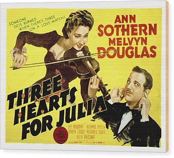 Three Hearts For Julia, Ann Sothern Wood Print by Everett