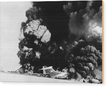 Three Hijacked Airliners Were Blown Wood Print by Everett
