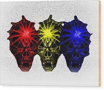 Wood Print featuring the photograph Three Skulls by Blair Stuart