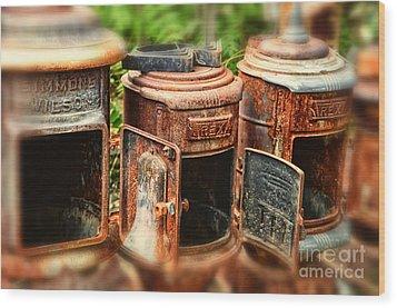 Three Stoves Wood Print by Tamera James