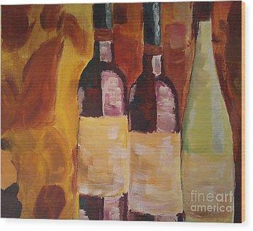 Three's A Party Wood Print by J Von Ryan