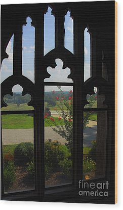 Wood Print featuring the photograph Through The Chapel Arches by Cindy Manero