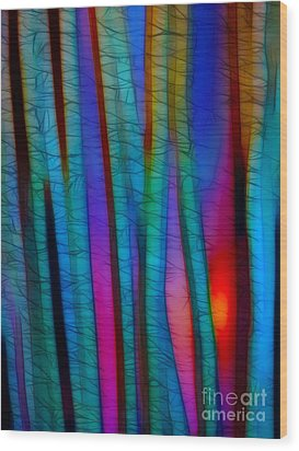 Through The Trees Wood Print by Judi Bagwell