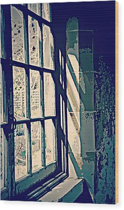 Wood Print featuring the photograph View Through The Window - Painterly Effect by Marilyn Wilson