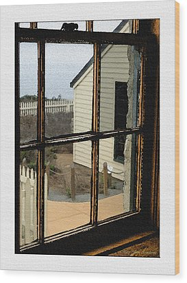 Wood Print featuring the digital art Through The Window by MaryJane Armstrong