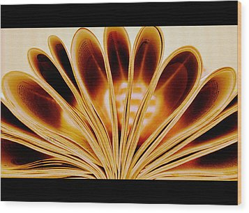 Wood Print featuring the photograph Throughout The Pages by Rima Biswas