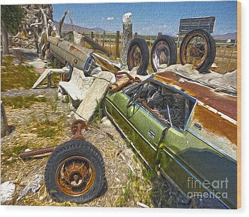 Thunder Mountain Indian Monument -  Car Wall Wood Print by Gregory Dyer
