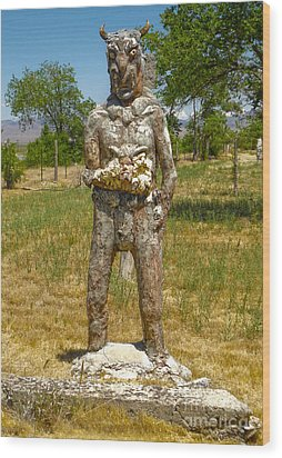 Thunder Mountain Indian Monument - Demon Wood Print by Gregory Dyer