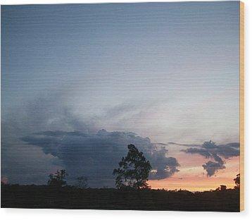 Thunderhead Wood Print by Wide Awake Arts